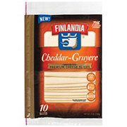 Finlandia Imported Premium Cheddar Gruyere Cheese Slices