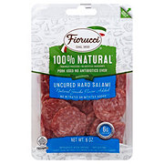Fiorucci Natural Uncured Hard Salame, Sliced