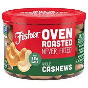 Fisher Oven Roasted Whole Cashews