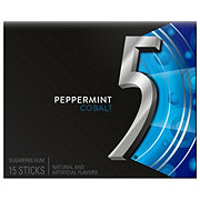 Five Gum Peppermint Cobalt Sugarfree Gum, single pack