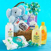 Floral Bouncing Baby Boy Basket - Standard