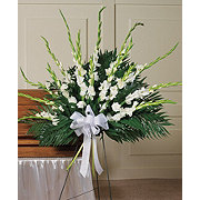 Floral Contemporary Gladiola Standing Easel Spray