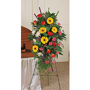 Floral Contemporary Seasonal Mix Standing Easel Spray