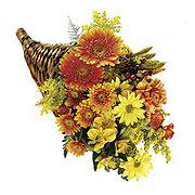Floral Cornucopia Centerpiece - Standard