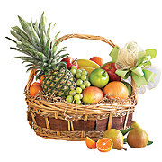 Floral Gourmet Fruit Basket