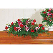 Floral Rose Lily Half Casket Spray