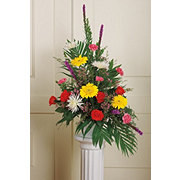 Floral Seasonal Mix Basket Arrangement