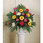 Floral Seasonal Mix Basket Arrangement with Handle