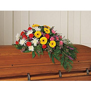 Floral Seasonal Mix Half Casket Spray