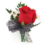 Floral Single Rose Corsage - Traditional