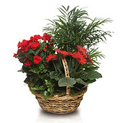 Floral Stepping Stone Basket Planter