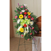 Floral Traditional Seasonal Mix Standing Easel Spray