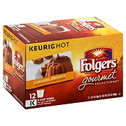 Folgers Caramel Drizzle Flavored Single Serve Coffee K Cups