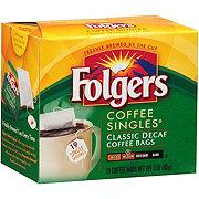 Folgers Classic Decaf Coffee Singles
