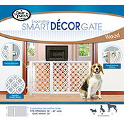 Four Paws Expanding Smart Decor Pet Gate Wood