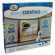 Four Paws Smart Essentials Locking Wood Gate with Mesh
