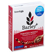 Freedom Foods Barley+ Toasted Muesli Cranberry and Nuts
