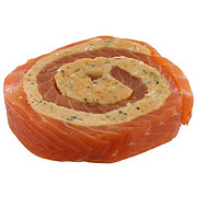 Fresh Atlantic Salmon Pinwheel With Lobster Stuffing