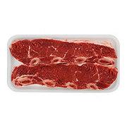 Fresh Beef Chuck Shoulder Flanken Style Ribs Bone-In Thick