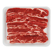Fresh Beef Chuck Shoulder Flanken Style Ribs Bone-In Thick Value Pack