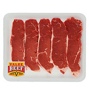 Fresh Beef Loin New York Strip Steak Boneless Value Pack Value Beef