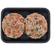 Fresh Bruschetta Atlantic Salmon Burgers