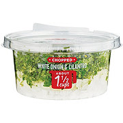 Fresh Chopped Cilantro & Diced White Onion