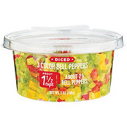 Fresh Diced 3 Color Bell Peppers