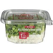 Fresh Diced White Onion & Bell Pepper