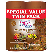Fresh House Auto Spray Refill, Amber Woods Twin Pack