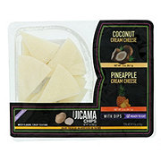 Fresh Jicama Chips with Coconut & Pineapple Cream Cheese Dip