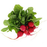 Fresh Organic Radish Bunch with Tops