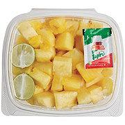 Fresh Pineapple Chunks with Tajin seasoning