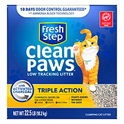 Fresh Step Clean Paws Triple Action Low Tracking Cat Litter