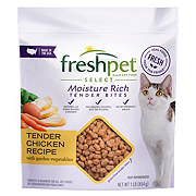 Freshpet Select Moisture Rich Tender Bites Tender Chicken Recipe Cat Food