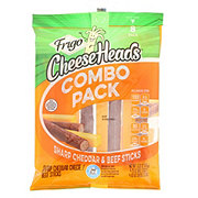 Frigo Cheese Heads Sharp Cheddar & Beef Sticks