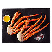 Frozen Cooked Gold King Crab Cluster, Wild Caught