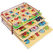 Funderful Wooden Puzzle Set With Rack