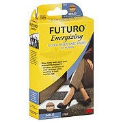 Futuro Energizing Ultra Sheer Knee Highs For Women Medium Nude Mild Compression