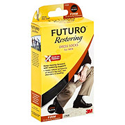 Futuro Restoring Dress Socks For Men Large Black Firm Compression