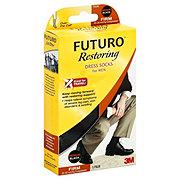 Futuro Restoring Dress Socks For Men Medium Black Firm Compression