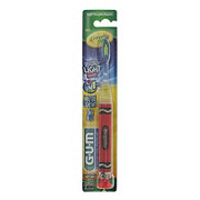 G-U-M Crayola Flashing Light Timer Soft Toothbrush, Assorted Colors