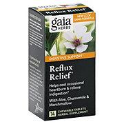 Gaia Herbs RapidRelief Reflux Relief Tablets