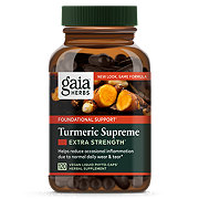 Gaia Herbs SystemSupport Turmeric Supreme Vegetarian Liquid Phyto-Caps Value Size