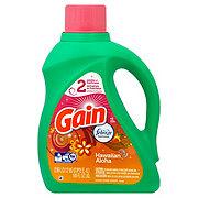 Gain HE Hawaiian Aloha with Febreze Freshness Liquid Laundry Detergent