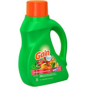 Gain HE Tropical Sunrise with Febreze Liquid Laundry Detergent 50 oz
