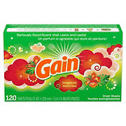 Gain Tropical Sunrise Scent Fabric Softener Dryer Sheets