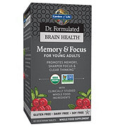 Garden of Life Dr. Formulated Brain Health Memory & Focus Young Adult