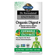 Garden of Life Dr.Formulated Enzymes Organic Digest +Tropical Fruit Flavor Chewables
