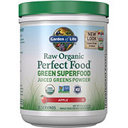 Garden of Life Raw Organic Perfect Food Green Superfood Juiced Greens Powder Apple Flavor